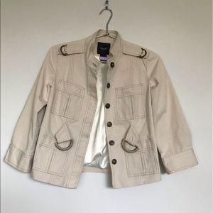 Smythe Cream Military Style Jacket.